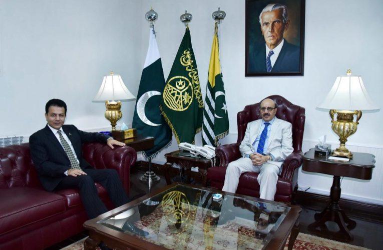 Meeting with President AJK Sardar Masood Khan.