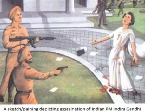 When PM India Indra Ghandi was assassinated.