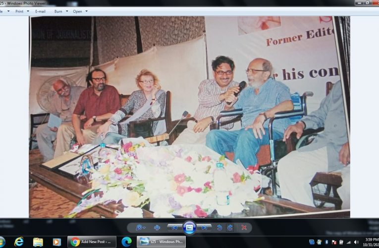 The event of Lifetime achievement honor for ex president Karachi Press Club and Editor Dawn was held in 2011 in KPC.