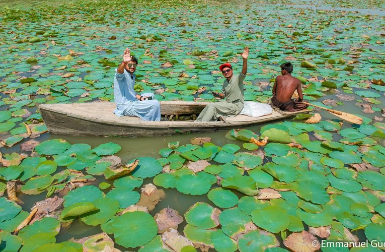 Botar lake in Sindh's white desert/AchroThar at Khipro, district Sanghar.