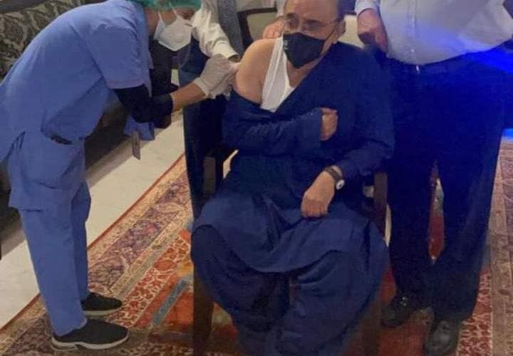 Former President Asif Ali Zardari received the first dose of COVID-19 vaccine