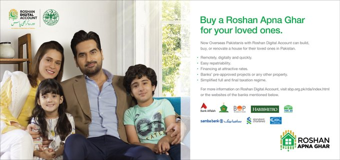 For the first time in the history of Pakistan, #OverseasPakistanis having #RoshanDigitalAccount can now buy property in Pakistan