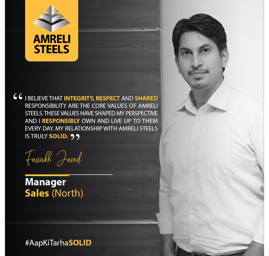 We are proud of our Manager Sales (North), Mr. Farrukh Javed,