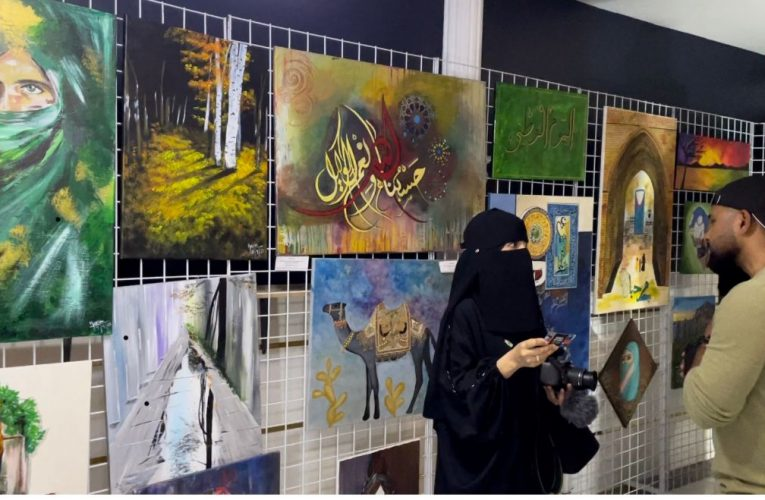 A 2-day arts exhibition was held by the Pakistani community in Jubail.